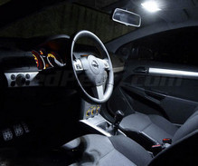 Pack interior Full LED (Pure white) for Opel Astra H TwinTop