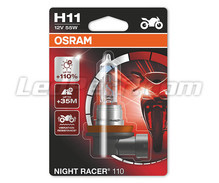 H11 Osram Night Racer 110 bulb for Moto - 64211NR1-01B