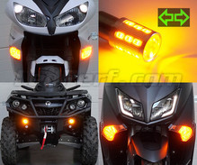 Pack front Led turn signal for Piaggio X10 500