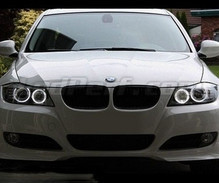 Pack LED angel eyes for BMW 3 (E90 - E91) Phase 2 (LCI) - with original xenon - Standard