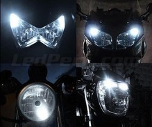 Pack sidelights led (xenon white) for Aprilia Scarabeo 500  (2006 - 2008)