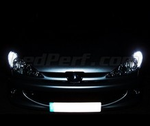 Pack sidelights LED (xenon white) for Peugeot 206