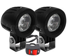 Additional LED headlights for Aprilia Pegaso Strada Trail 650 - Long range