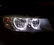 Angel eyes pack with LEDs for BMW 3 Series (E90 - E91) Phase 2 (LCI) - Without original xenon