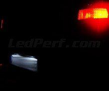 Pack LED License plate (Xenon White) for Opel Vectra C