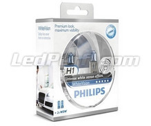 Pack of 2 Philips H1 bulbs WhiteVision (New!)