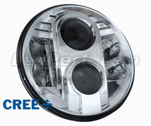 Chrome Full LED Motorcycle Optics for Round Headlight 7 Inch - Type 1