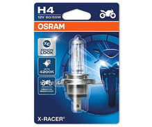 H4 Bulb Osram X-Racer Halogen Xenon Effect for Motorcycle - 60/55W