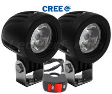 Additional LED headlights for scooter Derbi Rambla 125 / 250 - Long range