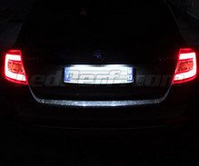 LEDs Pack (white 6000K) license plate for Skoda Rapid