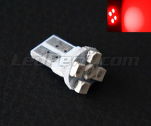 T10 Efficacity bulb with 5 leds TL - Red - w5w