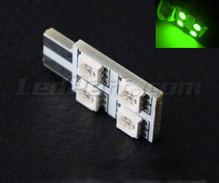 Led T10 Rotation 4 leds HP - lighting side - Green W5W