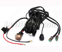 Power wire harness with relay for LED Bar and LED Work Lights - 2 DT connectors - Movable switch