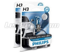 Pack of 2 Philips H3 bulbs WhiteVision + 2 W5W WhiteVision (New!)