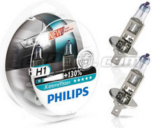 Pack of 2 Philips X-treme Vision +130% H1 bulbs (New!)