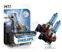 Pack of 2 bulbs H11 Philips BlueVision Ultra