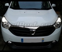 Pack LED daytime running lights (DRL) xenon white for Dacia Lodgy