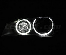 H8 angel eyes pack with white (pure) 6000K LEDs for BMW X3 (F25) - Standard