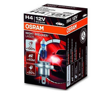 H4 Bulb Osram Night Breaker Laser + 130%