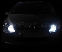 Pack sidelights LED (xenon white) for Peugeot 307