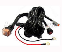 Power wire harness with relay for LED bar and headlight - 1 DT connector - Fixed switch