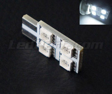 Led T10 Rotation 4 leds HP - lighting side - White W5W