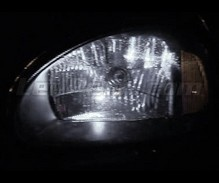 Pack sidelights LED (xenon white) for Opel Corsa B