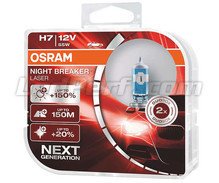 Pack of 2 Osram Night Breaker Laser +150% H7 bulbs  - 64210NL-HCB
