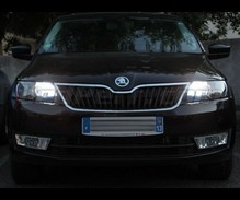 Pack Xenon Effects daytime (DRL) and Hi-beam H15 bulbs for Skoda Fabia 3