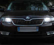 Pack Xenon Effects daytime (DRL) and Hi-beam H15 bulbs for Skoda Rapid