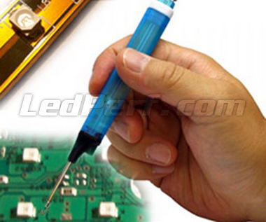Soldering training kit for SMD LEDs on instrument panel