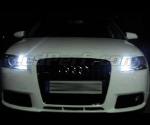 Pack sidelights led (xenon white) for Audi A3 8P