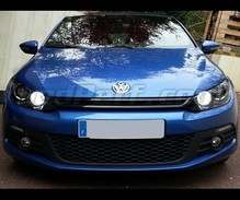 Pack LED daytime running lights (DRL) xenon white for Volkswagen Scirocco (with xenon)