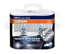 Pack of 2 Bulbs H11 Osram Night Breaker Unlimited