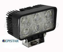 Additional 6 LED Light Rectangular 18W for 4WD - ATV - SSV