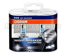 Pack of 2 Bulbs H4 Osram Night Breaker Unlimited